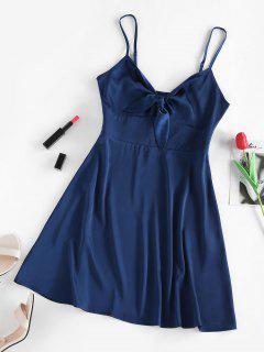 ZAFUL Gebundenes Satin Kleid Mit Offenem Rücken - Tiefes Blau S