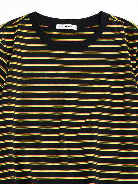 T-Shirt di ZAFUL a Righe con Maniche Corte - Giallo S Mobile