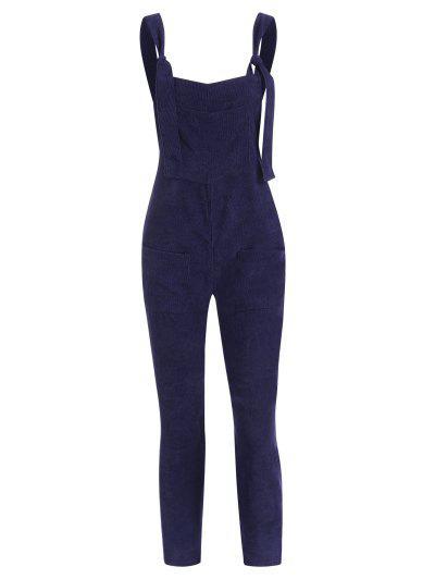 Gerade Taschen Corduroy Overalls Jumpsuit - Tiefes Blau L