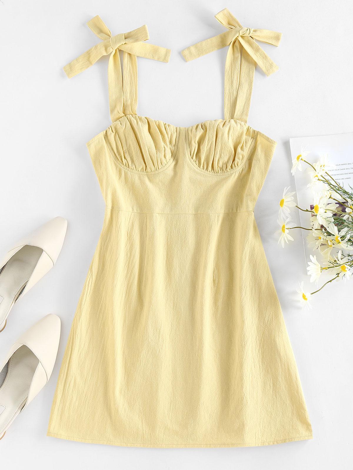 Zaful Tie Shoulder Dress