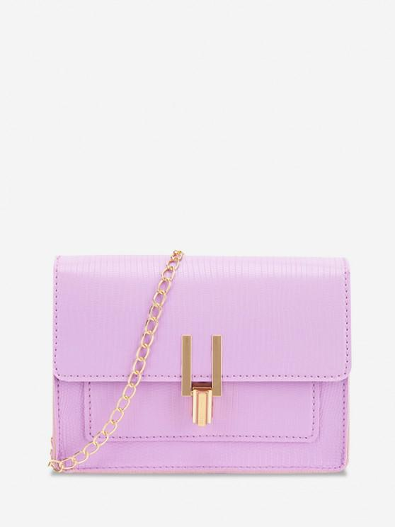 new Rectangle Chain Cover Crossbody Bag - MAUVE