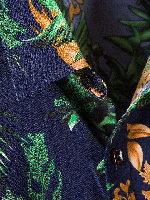 Camisa Às Quadrados com Manga Longa - Azul da Meia Noite L Mobile