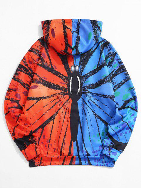 outfit Kangaroo Pocket Animal Print Contrast Hoodie - RED M Mobile