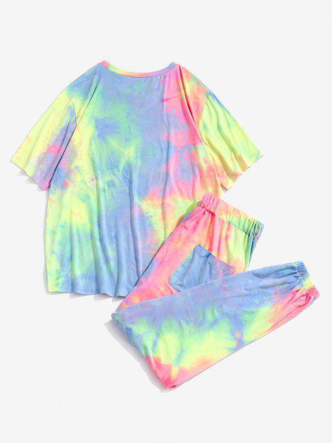 Conjunto de Duas Peças em Estilo Antigo Com T-shirt - Luz rosa 2XL Mobile