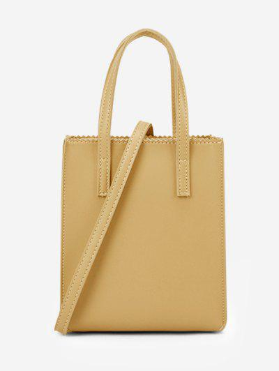 Zigzag Edge Solid Tote Bag - Goldenrod