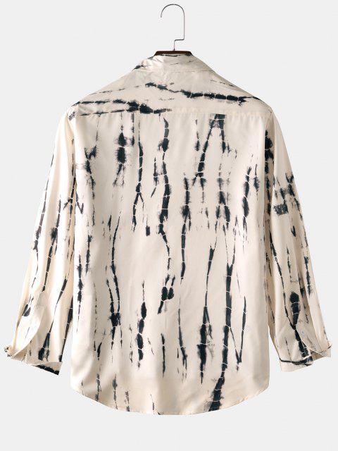 タイダイ長袖シャツ - 暖かい白 3XL Mobile