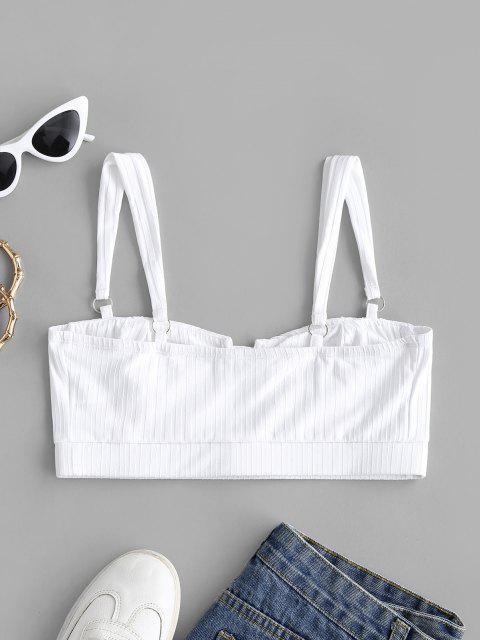 Anillos Top Recortada de Punto - Blanco L Mobile