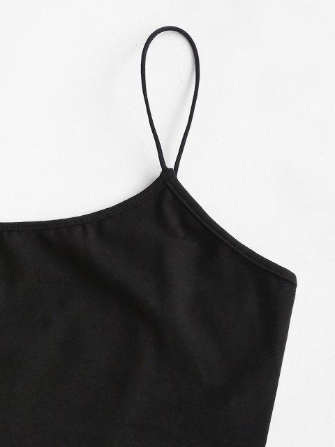 Camisole Courte à Bretelle Bouclée - Noir M Mobile