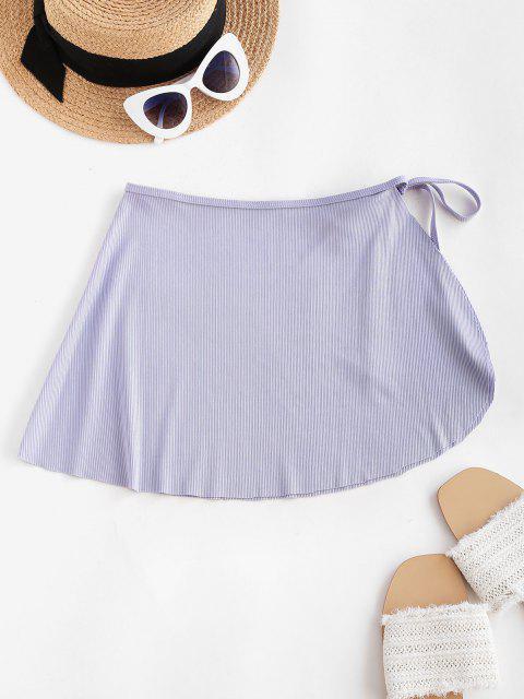 ZAFUL Mini Falda Acanalado de Playa - purpúreo claro S Mobile