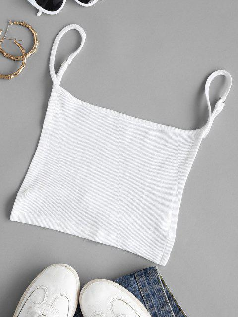 Rib-knit Backless Napkin Camisole - أبيض M Mobile