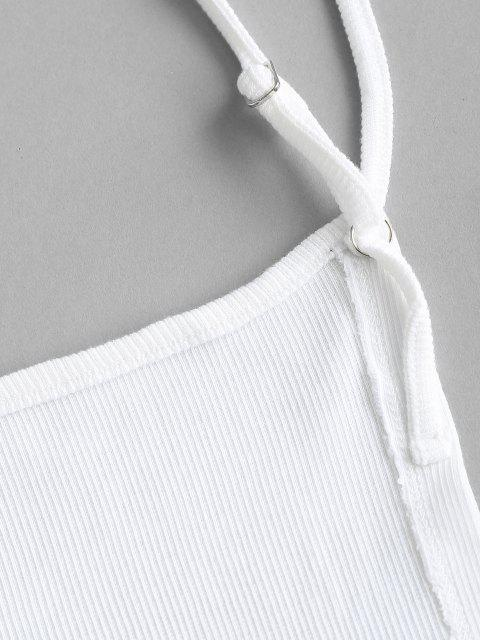 Costela de Malha Costa Aberta com Painél de Renda - Branco S Mobile