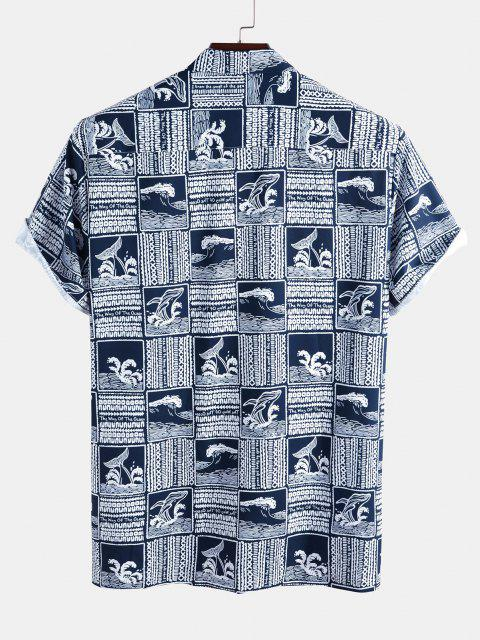 women's The Way Of The Ocean Dolphin Graphic Shirt - DEEP BLUE S Mobile