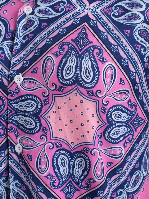 Camicia con Maniche Corte e Pantaloncini Banana - Rosa chiaro 2XL Mobile