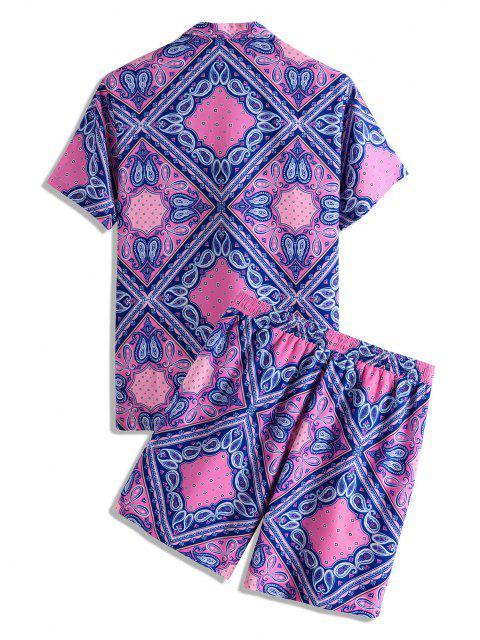 Conjunto de duas Peças de Shorts e Camiseta Mangas Curtas com Estampa - Luz rosa M Mobile