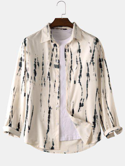 Tie Dye Long Sleeve Shirt - Warm White Xl
