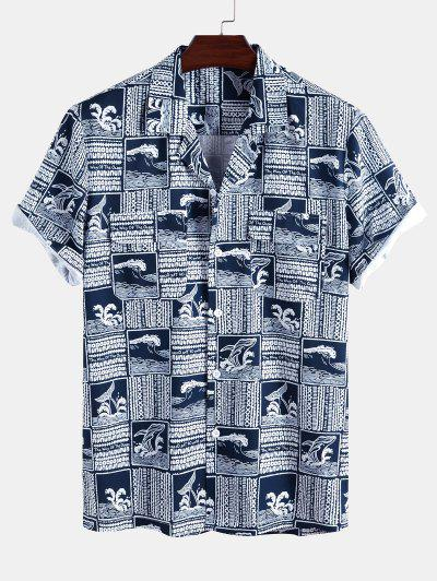 The Way Of The Ocean Dolphin Graphic Shirt - Deep Blue Xl