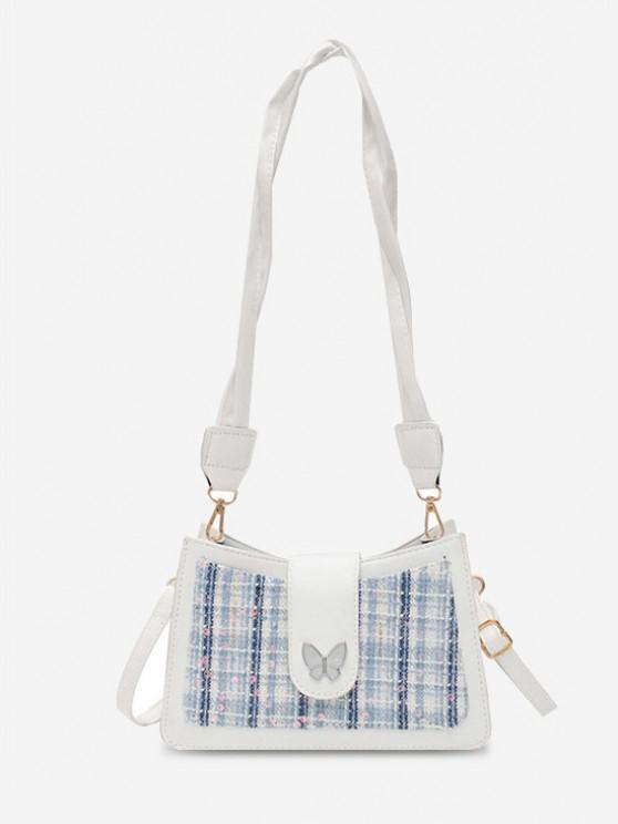 PU Butterfly Sequins Shoulder Bag - حليب ابيض