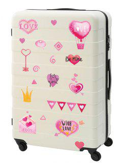 Valentine's Day Heart Pattern Wall Stickers Set - Multi-b 20x30cm