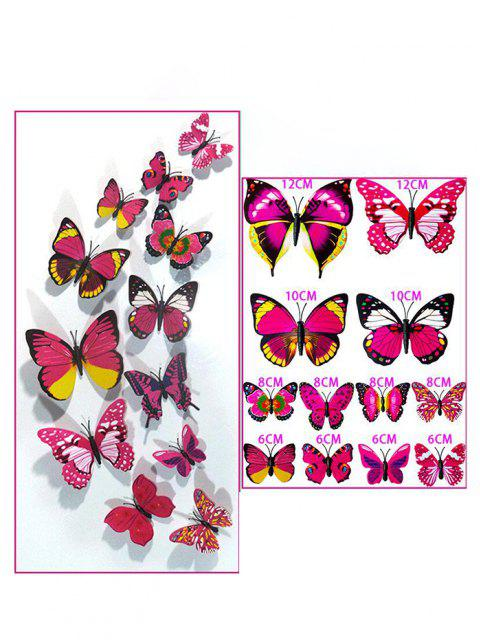 12Pcs 3D Butterfly Magnetic Refrigerator Stickers Set - Multi-A 12 Stücke Mobile