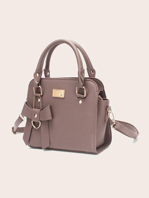 Bolso de Color Sólido de Correa de Hebilla de Lazo - Púrpura Oscuro  Mobile