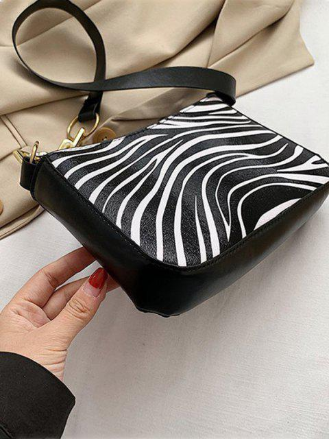 outfits PU Retro Zebra Shoulder Bag - MILK WHITE  Mobile