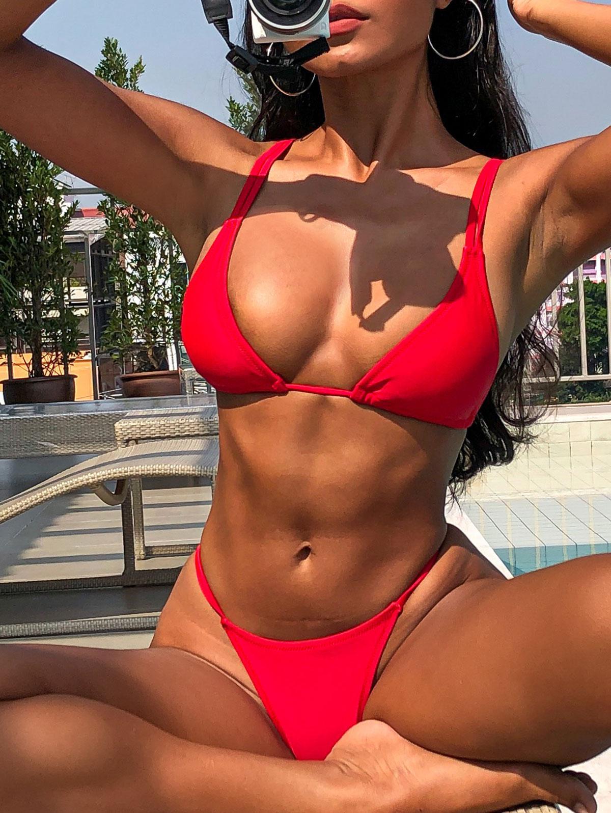 Bikini à Double Bretelles S - Zaful FR - Modalova