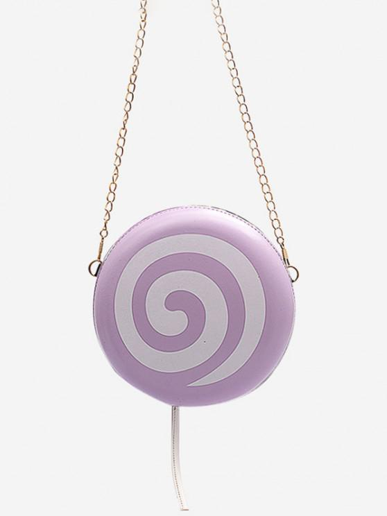 Lollipop Shape Chain Mini Round Crossbody Bag - خبازي
