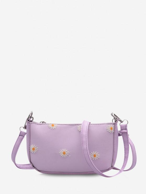 Daisy Flower Pattern Shoulder Bag - خبازي