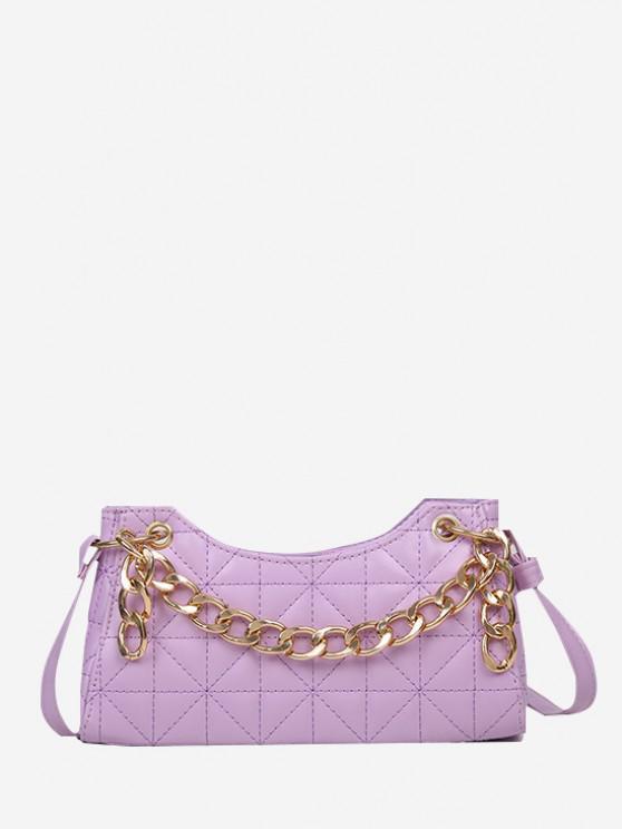 Chain Quilted Shoulder Bag - هيليوتروب بيربل