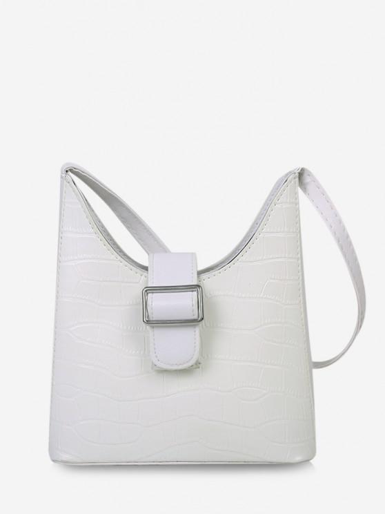 affordable Buckle Embellished Shoulder Bag - WHITE