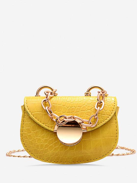 affordable Chain Mini Saddle Bag - BEE YELLOW