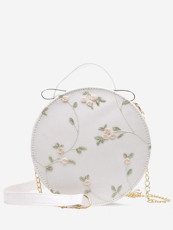 online Embroidery Floral Lace Canteen Bag - CRYSTAL CREAM