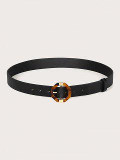 Geometric Pin Buckle Belt - Black