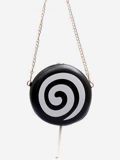 Lollipop Mini Bandolera De Cadenas Con Forma Redonda - Negro
