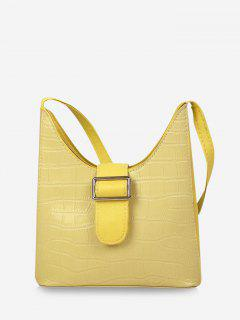 Buckle Embellished Shoulder Bag - Goldenrod