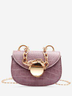 Chain Mini Saddle Bag - Lilac