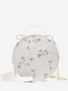 Embroidery Floral Lace Canteen Bag - Crystal Cream