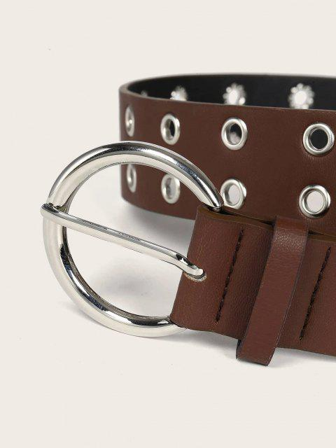 shop Two Row Grommet Buckle Belt - SEPIA  Mobile