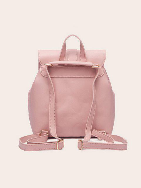 fancy Tassel Quilted Solid Backpack - PINK  Mobile