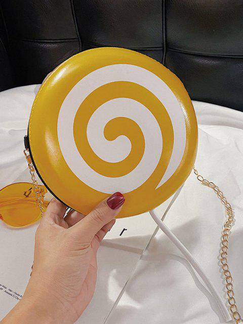 shop Lollipop Shape Chain Mini Round Crossbody Bag - SUN YELLOW  Mobile