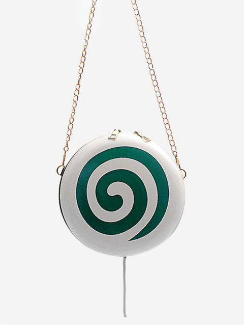 shops Lollipop Shape Chain Mini Round Crossbody Bag - GREENISH BLUE  Mobile
