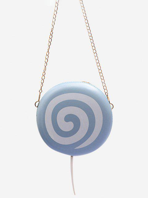 latest Lollipop Shape Chain Mini Round Crossbody Bag - BLUE GRAY  Mobile