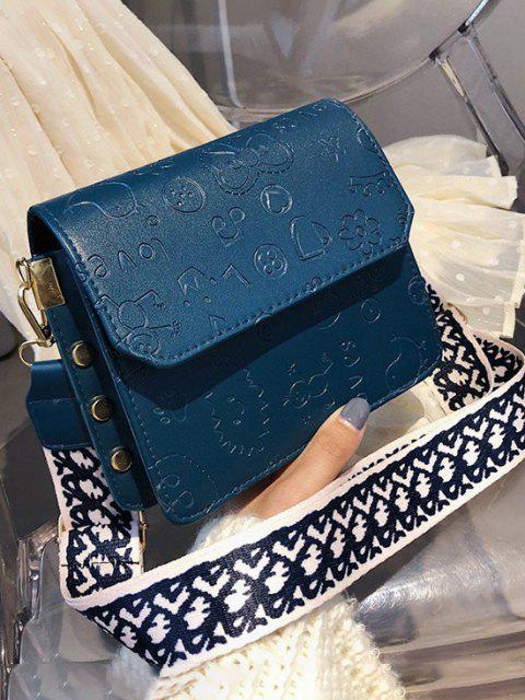 Bolsa Cruzada Relieve Dibujo Animado - Azul de Pizarra Oscuro  Mobile