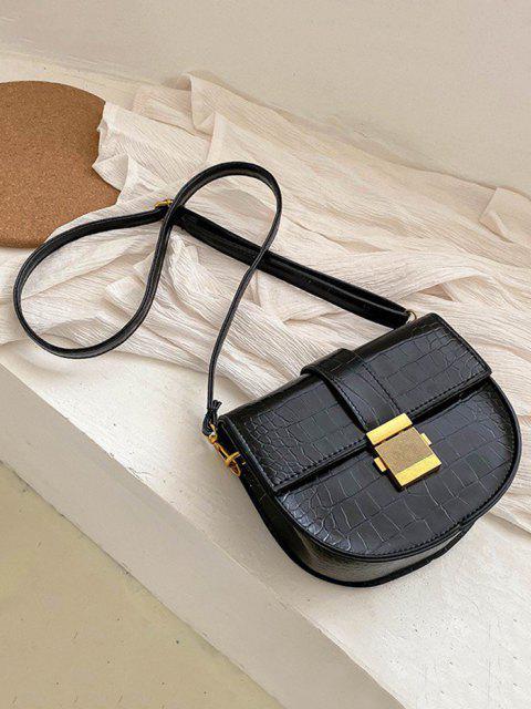 Bolsa Cruzada Texturado - Negro  Mobile