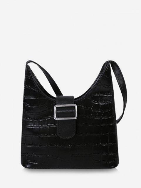 Schnalle Verschönerte Umhängetasche - Schwarz  Mobile