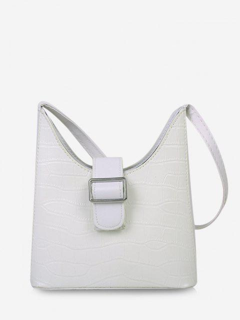 affordable Buckle Embellished Shoulder Bag - WHITE  Mobile