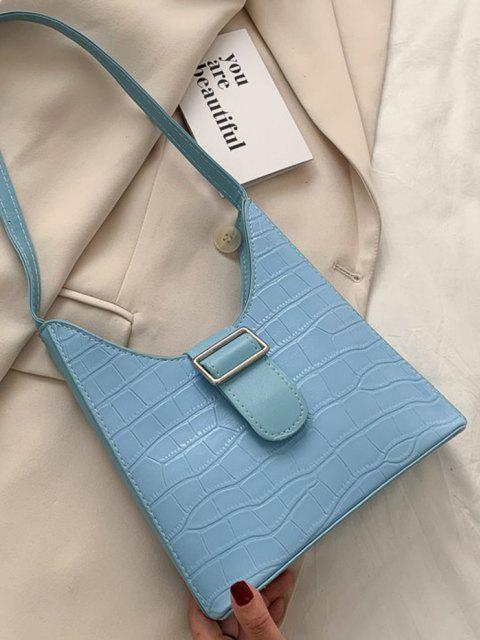 buy Buckle Embellished Shoulder Bag - CRYSTAL BLUE  Mobile