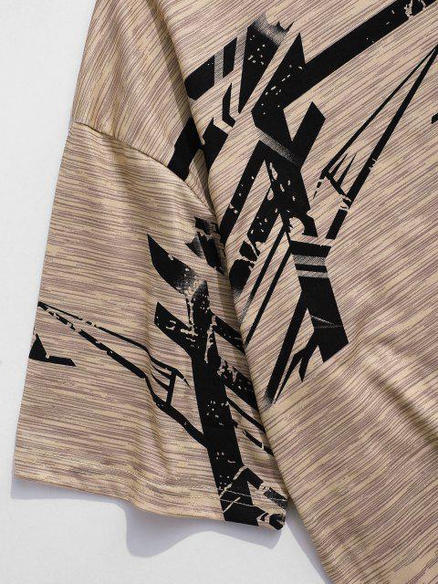 T-shirt de Esporte de Correia de Mangas Curtas - Cor de Caqui XS Mobile