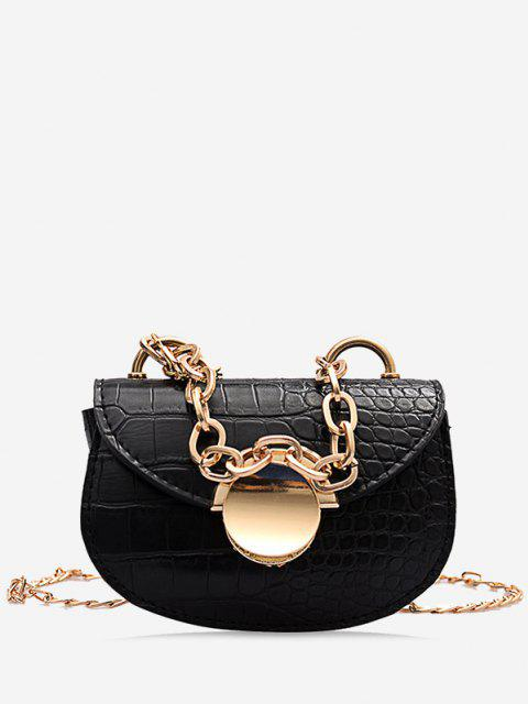 Chain Mini Saddle Bag - أسود  Mobile