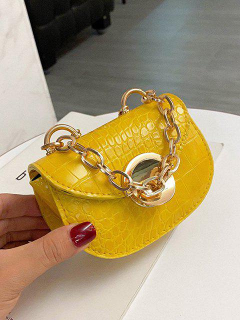 affordable Chain Mini Saddle Bag - BEE YELLOW  Mobile